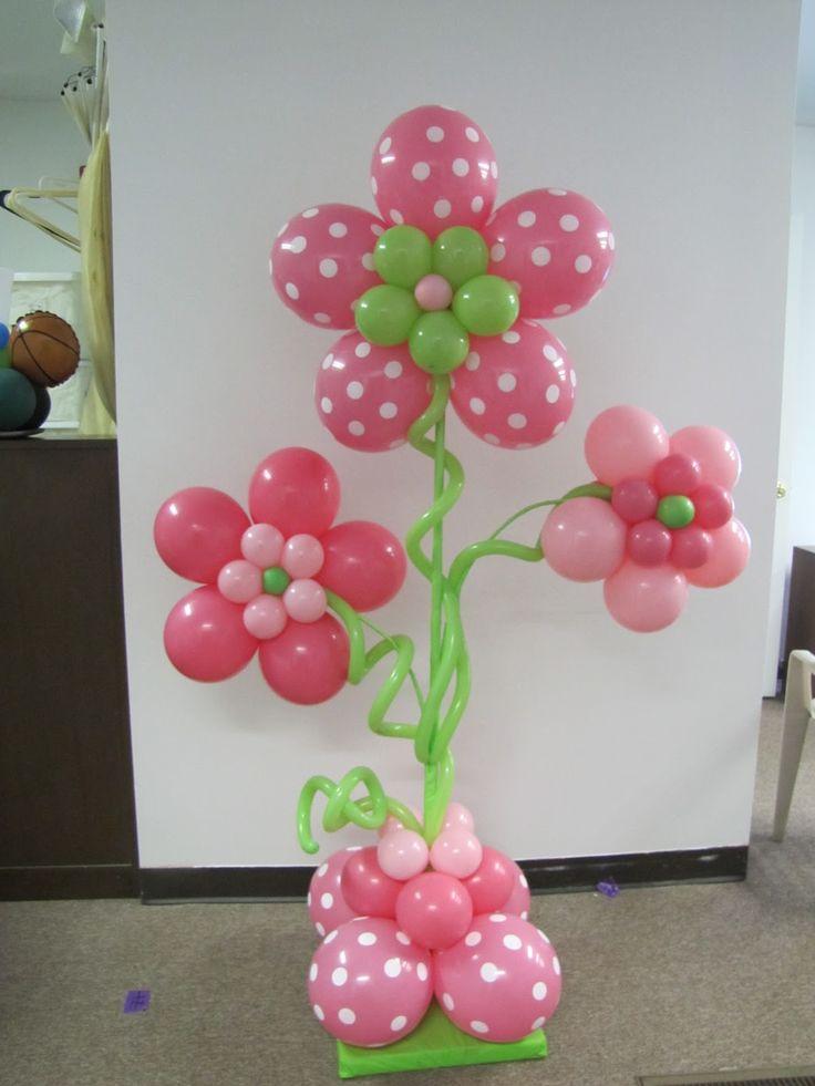Фото цветов из шаров на стену